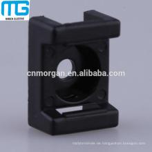 2-Wege-Weiß Sattelkabel Kabelbinder Zentrierfuß mit UL-geprüftem Nylon, UL94-V2, erhältlich in weiß und schwarz