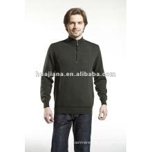 eleganter 100% Kaschmir-Pullover mit halbem Reißverschluss