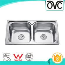 Évier de cuisine en acier inoxydable sous-plan rectangulaire évier de cuisine sous-comptoir en acier inoxydable