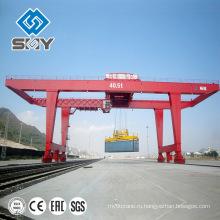 Сверхмощный контейнер двухбалочный Козловой кран 40 тонн
