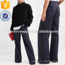 Шерсть и мохер-смесь широкий ноги брюки Производство Оптовая продажа женской одежды (TA3008P)