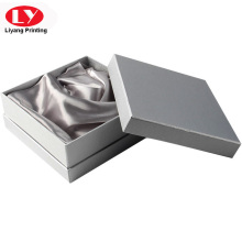 Top and Bottom Silver Texture Paper Jewelry Box Packaging