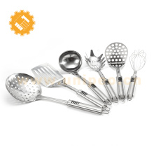 6 pcs stainless steel kitchen ware utensils set with non slip handle