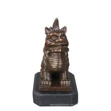 Animal Bronce Escultura Monstruo Nian Decoración Latón Estatua Tpy-638