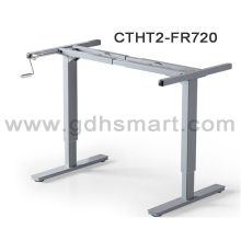 2016 height adjustable manual crank lifting sit-stand technical desk