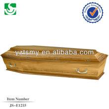 Estilo europeu profissional forro e metal lidar com venda de caixão