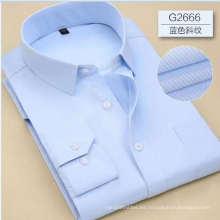 Camisa formal de tela dobby cvc para hombre