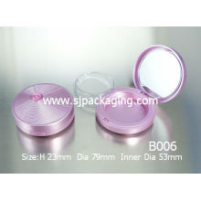luxury compact powder case with lipstick tube empty compact powder container