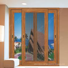 Schiebefenster aus Aluminium mit Fliegengitter