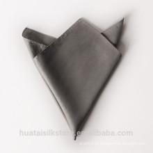 Atacado 100% seda personalizado laço e bolso quadrado