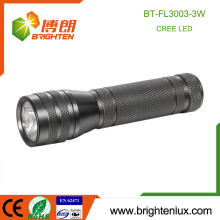 Factory Supply 3*AAA battery Powered OEM Small Portable cree xpe 3w led aluminium flashlight