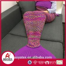 Подарок промотирования мягкий хвост русалки одеяло для взрослых и детей