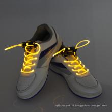Corda de sapata de incandescência ativada som brilhante super dos cadarços do diodo emissor de luz
