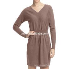 Vestido da camisola da caxemira do algodão do verão da mulher 15JWT0113