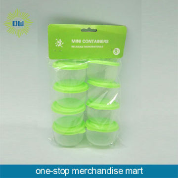 set of 8pc plastic mini containers