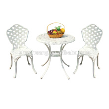 Outdoor furniture set 3pcs aluminum balcony garden chairs with coffee table
