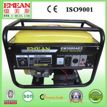 Generador portátil de la gasolina del comienzo eléctrico 2.5kw para el uso en el hogar (EM3000)