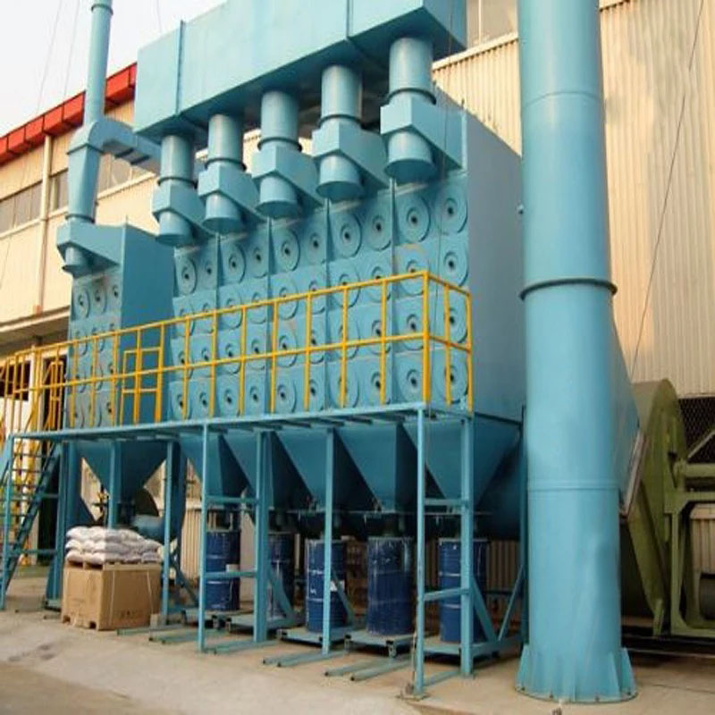 Cylinder type dust collector system