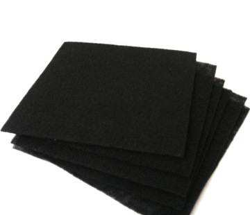 Black packing nonwoven fabric