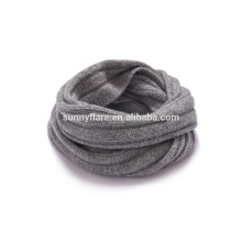 New design circular neck cashmere style chunky winter knitted round snood neck scarf