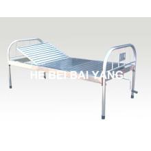 A-121 Todos Acero inoxidable de una sola función Manual de cama de hospital