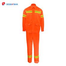 Combinaison de travail de coton, vêtements de travail d'industrie de gaz de pétrole, combinaison résistante au feu de sécurité
