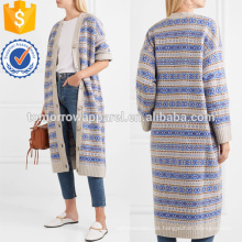 Krepp-getäfelten Jacquard-Mantel Herstellung Großhandel Mode Frauen Bekleidung (TA3037C)