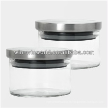 Luftdichtes Glas Mini Keksdose mit Metalldeckel