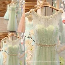Luxus Perlen Handgefertigte funkelnde Abendkleider Lange elegante Kristall Sequin Schärpe Robe Longue Femme Soiree 2016 ML160