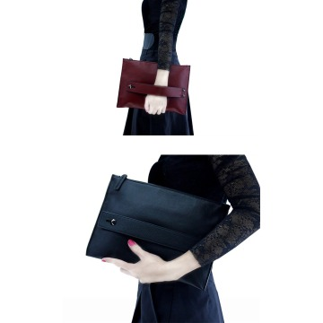 Party Purse Burgundy Envelope Clutches Bag para Mujeres