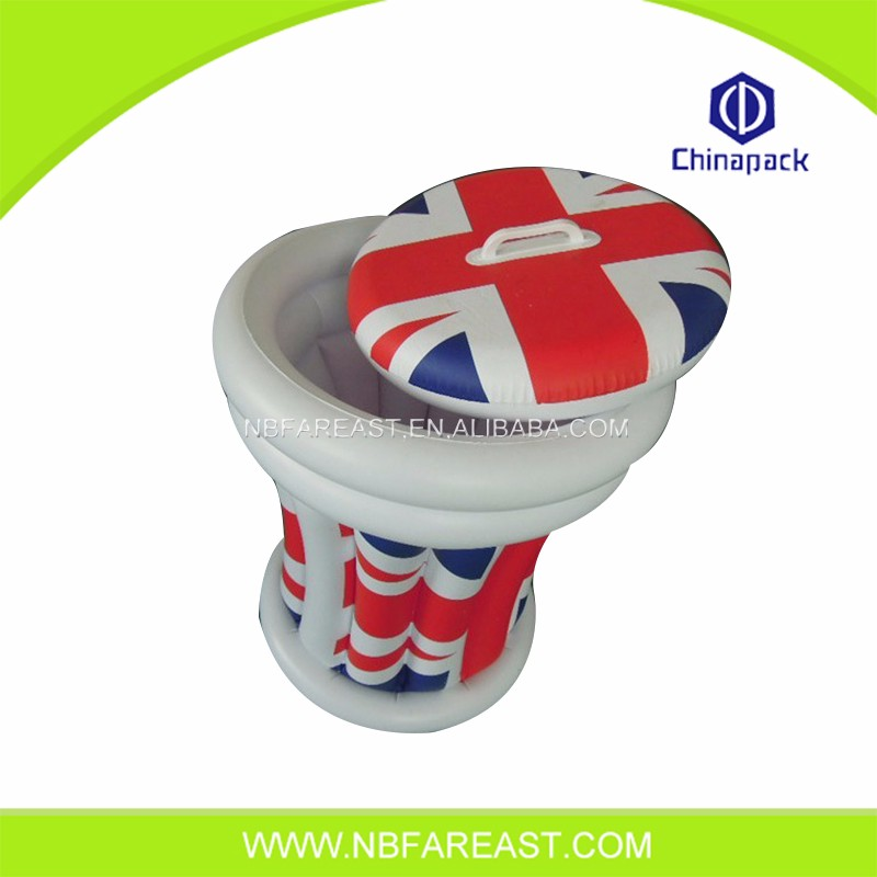 Full color printing inflatable floating ice bucket