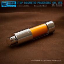 Serie de ZB-RD 10ml 15ml tamaño pequeño delicado redondo capas doble rotatorio plástico cosmética botellas sin aire