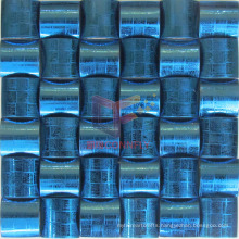 Blue Oracle Pattern Stainless Steel Metal Mosaic (CFM898)