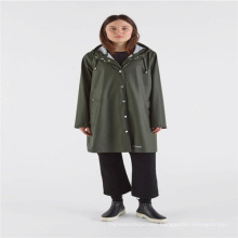 Polyurethane adult rainwear with button and hood