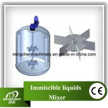 Réservoir de mélange de liquides non miscibles en acier sans étatil