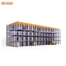 unidad de almacenamiento de metal en el estante de la plataforma para el almacén
