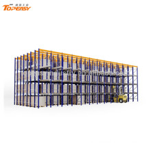 metal storage drive in pallet rack for warehouse