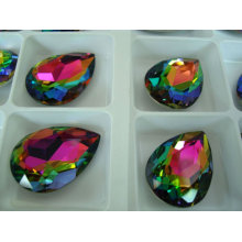 Rainbow Color Teardrop Strass Stones Beads