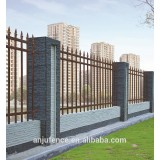 antique brass color of stronger ornamental steel fence and gate DK 002