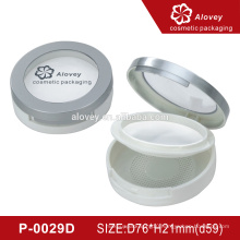 Compact powder packaging with window