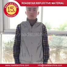 Personalizado prata refletivo blusão