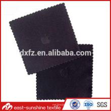 Logo en relieve multicolor impresión microfibra gafas trapo de limpieza, logotipo impreso microfibra lente paño de limpieza