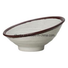 Bacia de louça de melamina 100% com um lado alto / louça de melamina (CSA76)