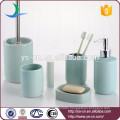 Wholesale Bath blue ceramic 6 pcs bathroom sets