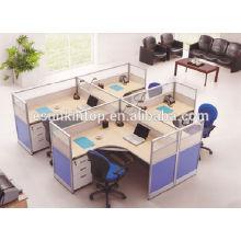 Escritorio de oficina en forma de T para cosas, escritorio de muebles de oficina de melamina para la venta (KW920)