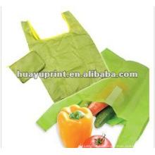 Зеленая хозяйственная сумка для защиты окружающей среды