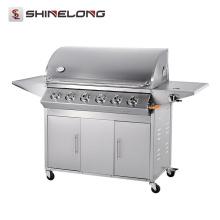 2017 ShineLong Vente Chaude Sans Fumée Rotation Professionnel bbq barbecue à gaz
