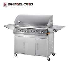 2017 ShineLong Hot Sale Smokeless Rotating Professional bbq grill a gás