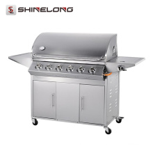 2017 ShineLong горячая Продажа Электрические вращающиеся профессиональные барбекю газовый гриль