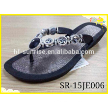 High Quality Ladies Flip Flop Slipper,silver insock